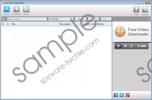 Free Video Downloader Removal Guide