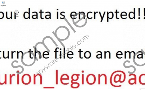 Centurion_Legion Ransomware Removal Guide