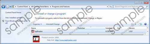 TapBreaker Removal Guide
