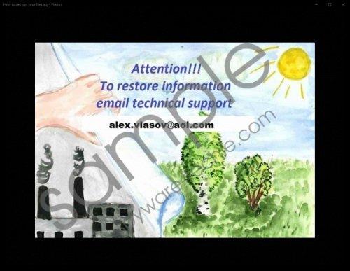 Alex.vlasov@aol.com Ransomware Removal Guide