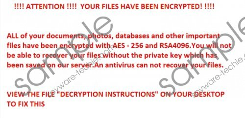 R980 Ransomware Removal Guide