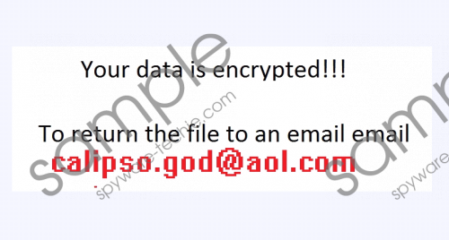 Calipso.god@aol.com Ransomware Removal Guide