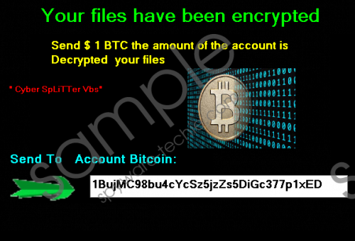 Cyber Splitter Vbs Ransomware Removal Guide