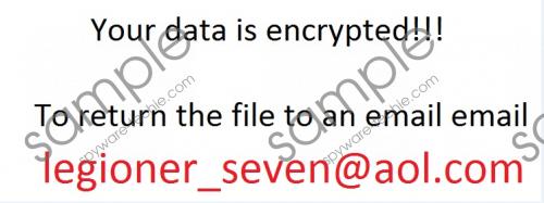legioner_seven@aol.com Ransomware Removal Guide