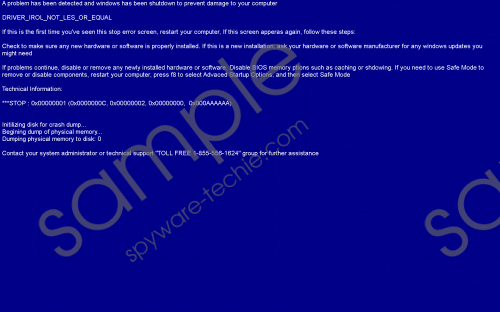 1-855-556-1624 Driver_irol_not_less_or_equal Removal Guide