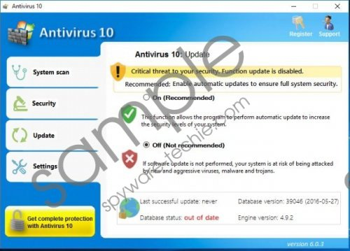 Antivirus 10 Removal Guide