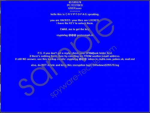 Cryptofag Ransomware Removal Guide