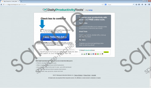 DailyProductivityTools Toolbar Removal Guide