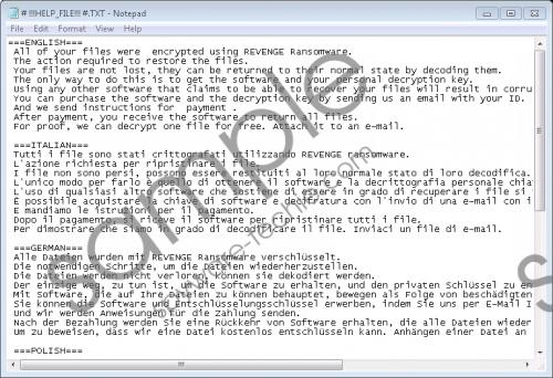 Revenge Ransomware Removal Guide