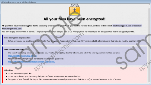 Wallet Ransomware Removal Guide