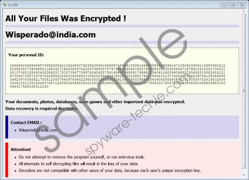Wisperado@india.com Ransomware Removal Guide