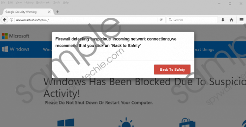 Firewall Detected Suspicious Network Connections fake alert Removal Guide