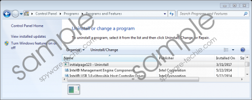 Initialpage123.com Removal Guide