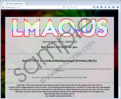 LMAOxUS ransomware Removal Guide