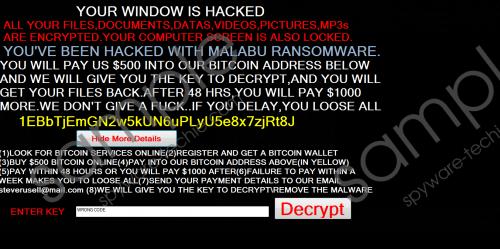 Malabu Ransomware Removal Guide