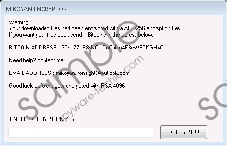 Mikoyan Ransomware Removal Guide