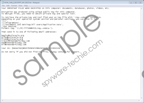XData Ransomware Removal Guide