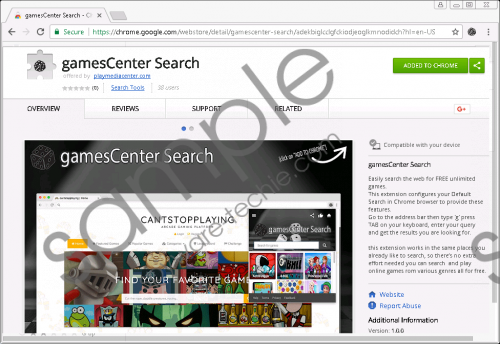GamesCenter Search Removal Guide