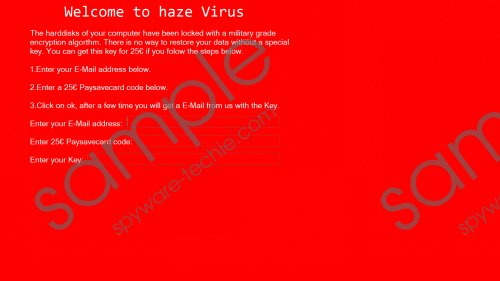 Haze Ransomware Removal Guide