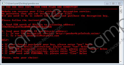 Pendor Ransomware Removal Guide