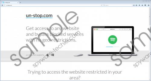 Un-stop Adware Removal Guide