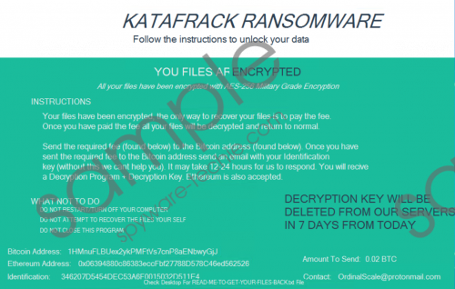 Katafrack Ransomware Removal Guide