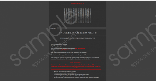 Sexy Ransomware Removal Guide