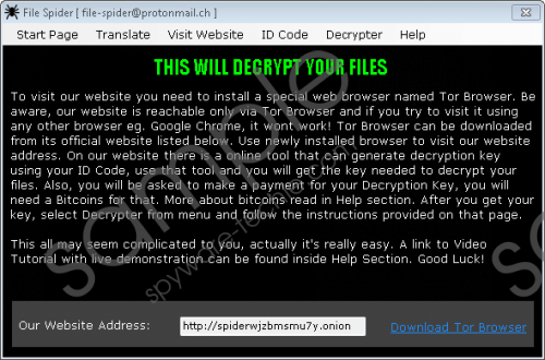 File Spider Ransomware Removal Guide
