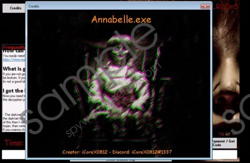 Annabelle Ransomware Removal Guide
