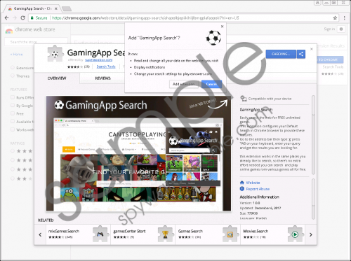 GamingApp Search Extension Removal Guide