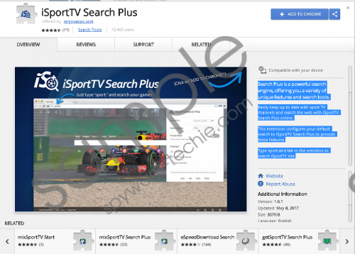 iSportTV Search Plus Extension Removal Guide