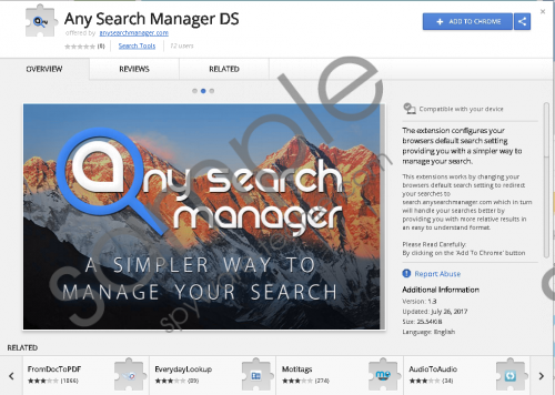 Any Search Manager Removal Guide