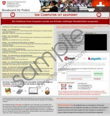 Confédération Suisse Virus Removal Guide