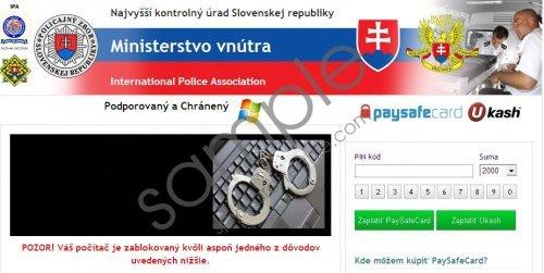 Ministerstvo vnútra virus Removal Guide