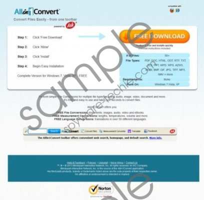 Allin1Convert Toolbar Removal Guide