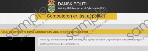 Computeren er låst af politiet Virus Removal Guide