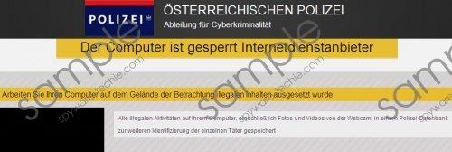 Der Computer ist gesperrt Internetdienstanbieter Virus Removal Guide
