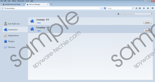 CoupApp Removal Guide