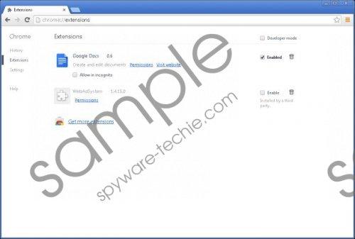 WebAdSystem Removal Guide
