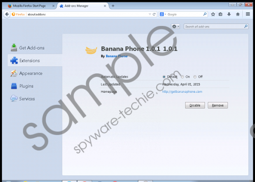 Banana Phone Removal Guide