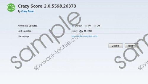 Crazy Score Removal Guide
