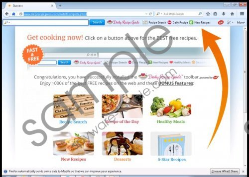 DailyRecipeGuide Toolbar Removal Guide