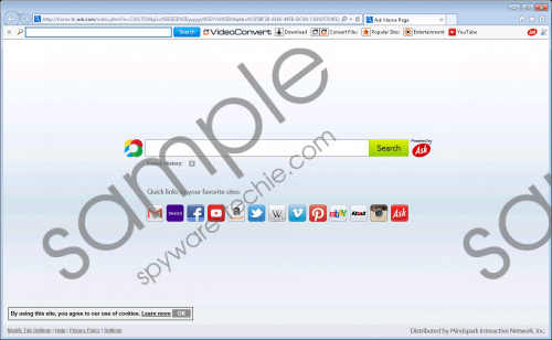 VideoConvert Toolbar Removal Guide