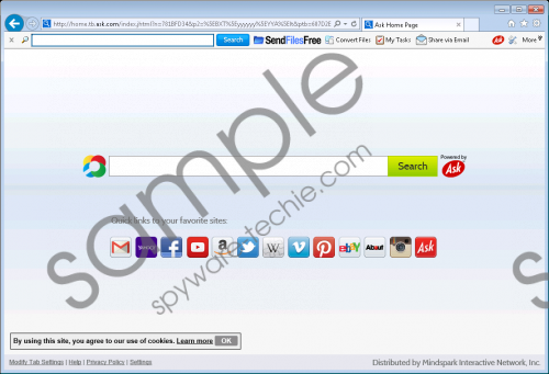SendFilesFree Toolbar Removal Guide