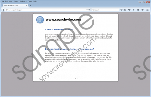 Searchwho.com Removal Guide