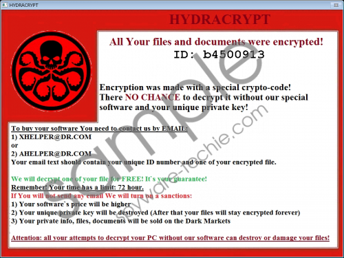HydraCrypt Ransomware Removal Guide