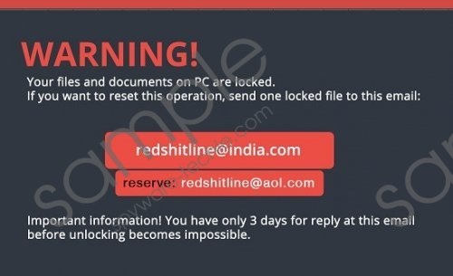 Redshitline Ransomware Removal Guide
