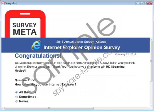 SurveyMeta Removal Guide