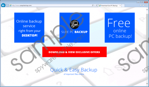 Sure PC Backup Removal Guide