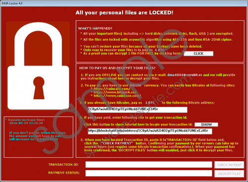 DMA Locker Ransomware Removal Guide
